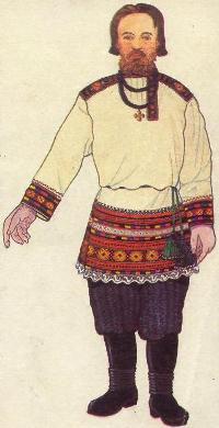 русский повседневный костюм